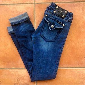 Miss Me Skinny Jeans Dark Blue Wash 27